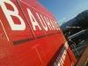 демонтаж и монтаж на винилна реклама за Баухаус на сградата на Радиал