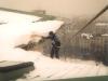 събаряне на покривни снежни дъски